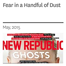 Fear in a Handful of Dust (       UNABRIDGED) by Ted Genoways Narrated by Derek Shetterly