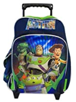 Small Toy Story Rolling Backpack - Disney Kids Luggage with Wheels