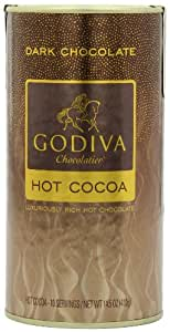 Godiva Dark Chocolate Hot Cocoa Can, 14.5-Ounces (Pack of 2)