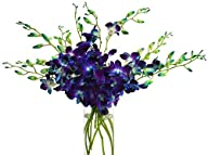 Blue Orchid Bouquet (10 Stems) – With…