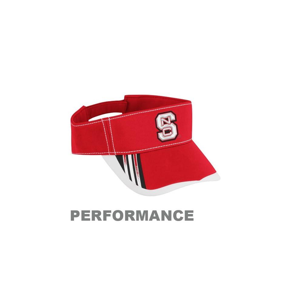 NCAA adidas North Carolina State Wolfpack Red Sideline Players Performance Adjustable Visor