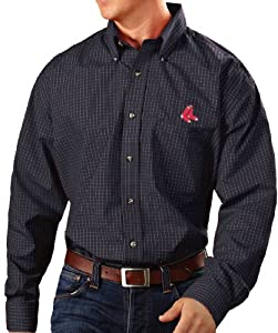 Boston Red Sox Antiqua MLB Esteem Long Sleeve Button Down Dress Shirt by Antigua