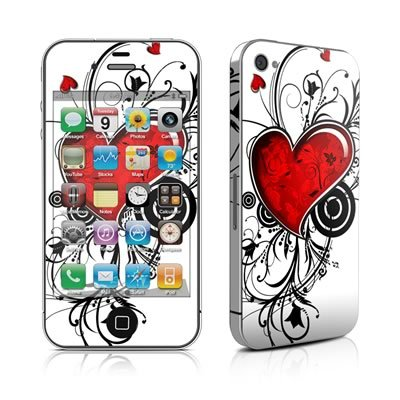 My Heart Design Protective Skin Decal Sticker for Apple iPhone 4 16GB 32GB