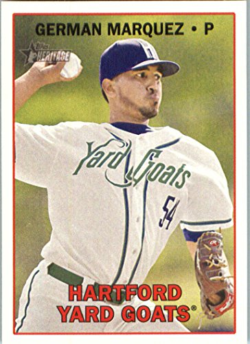 2016 Topps Heritage Minor League #176 German Marquez Hartford Yard Goats Baseball Card in Protective Screwdown Display Case (Goat Display compare prices)