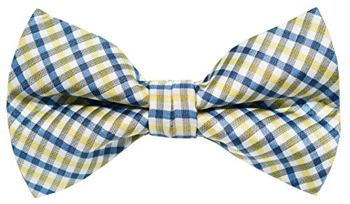 OCIA® Mens Checkered Microfiber Pre-tied Bow Tie - ND023 (Trendy Bow Ties compare prices)