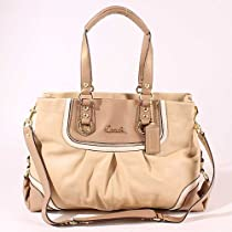 Hot Sale Authentic Coach Leather Spectator Ashley Carryall Bag 17096 Tan Multi