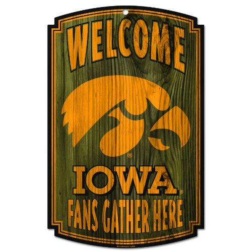 Iowa Hawkeyes Wood Sign