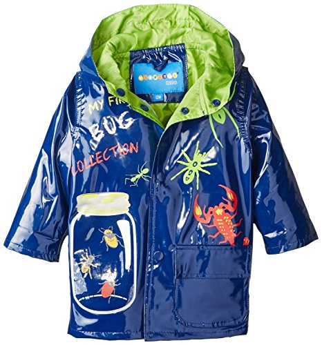 Wippette Baby Boys' Bugged Out Rain, Navy, 24 Months