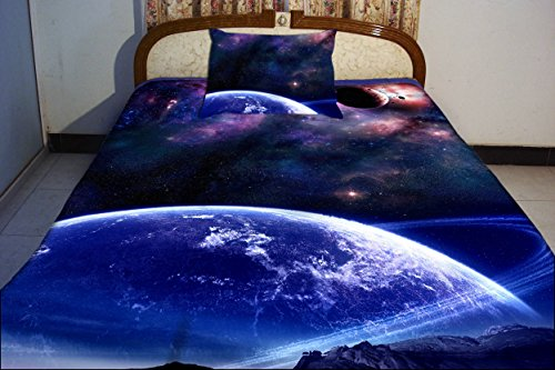 Anlye Dorm Bedding From Home Decorators Set 2 Sides Printing Out Space Quilt Duvet Cover Out Space Bed Linen Sheets With 2 With 2 Throw Pillow Covers Full front-426201