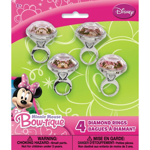 Minnie Mouse Diamond Ring Party Favors, 4ct