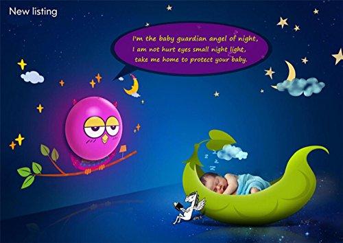 Wastar® Cute Cartoon Wallpaper Night Light DIY Wall Sticker Lamp with Light Control Sensor