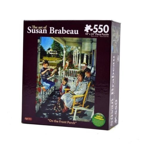 "The Art of Susan Brabeau ""On the Front Porch"" 550 Piece Jigsaw Puzzle - 1"