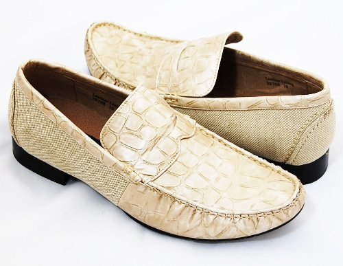 Cheap Beige Croco Loafers by Majestic . Real Leather Lining (B008HRS9E2)