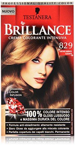 Testanera - Brillance, Crema Colorante Intensiva, 829 Castano Ambrato Elegante