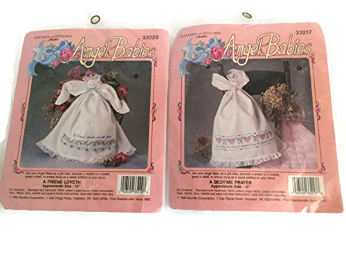 Gallery Of Stitches By Bucilla Angel Babies (Pack Of 2) Vintage 1992. front-319619