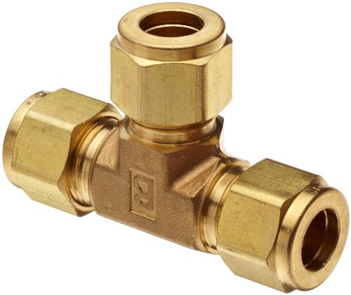 Parker a lok et b brass compression tube fitting tee