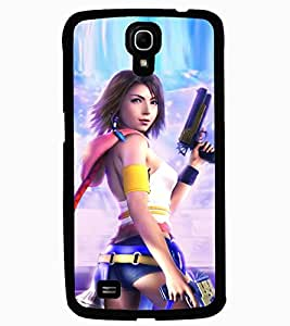 ColourCraft Warrior Girl Design Back Case Cover for SAMSUNG GALAXY MEGA 6.3 I9200