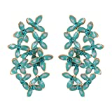 Fayon Weekend Casual Multicolour Flowers Cluster Stud Earrings
