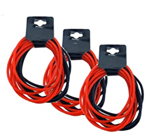 Neon Bracelet Jelly Set Black and Red Lot of 3 Dozen Silicone Bracelets