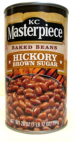 Kc Masterpiece Baked Beans: Hickory Brown Sugar (2 Pack) 28 Oz Cans