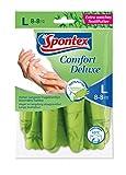 Spontex Handschuhe Comfort Deluxe Größe 8-8.5 - mit Baumwoll-Strick-Fütterung. maschinenwaschbar.