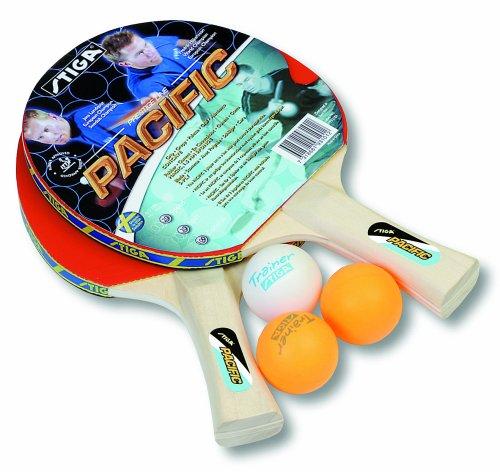 Stiga - Set Ping Pong Pacific 2 Racchette E 3 Palline