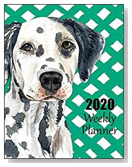 Dalmatian 2020 Dated Weekly Planner - A fun canine-themed planner to help any dog lover stay organized and keep track of activities on a daily, weekly, and monthly basis from January to December 2020.