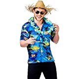 Mens Hawaiian Fancy Dress Shirt Beach Luau Aloha Summer Party Floral / Palm Tree