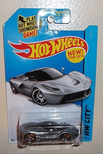 2014 Hot Wheels Hw City Laferrari - Silver [Ships in a Box!]