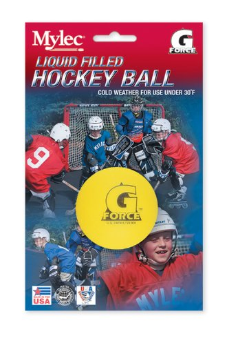 Mylec Cold Weather Liquid Filled G-Force Hockey Balls, Yellow (Pack of 3)
