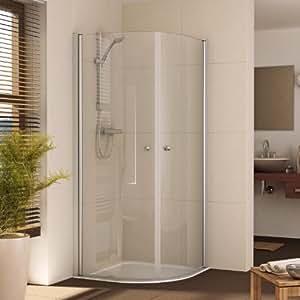 duschkabine duschabtrennung dusche rund viertelkreis 90 x 90 baumarkt. Black Bedroom Furniture Sets. Home Design Ideas