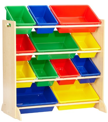 Kidkraft 12 Bin Unit W/Primary Bins 16774 Furniture (Multi-colour)