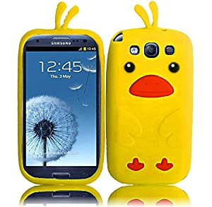 Samsung Yellow Funny Duck Silicone Jelly Skin Case Cover for T-Mobile Samsung Galaxy S 3 S3 III i9300 i747 T999 L710 i535 Sprint Galaxy S3