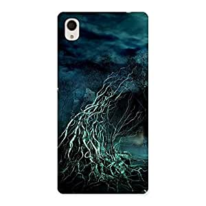 Cute Horror Tree Multicolor Back Case Cover for Sony Xperia M4