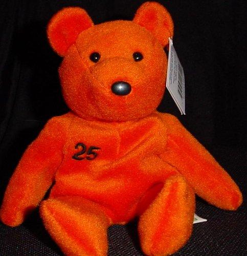 Salvino's Bamm Beano's - Barry Bonds #25 Orange Bean Bag Toy - 1