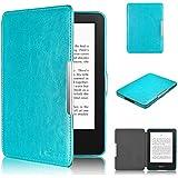 Swees - Cubierta y funda case de PU cuero artificial para el Amazon Kindle 7th Generación (Octubre 2014) - Con Auto Sleep/Wake Function (No aptos para otros dispositivos Kindle) - Azul