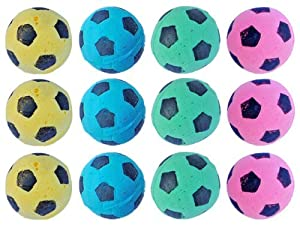 FOAM Soccer Balls Cat Toys - 12 Pack