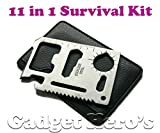 #8: Gadget Hero's 11 in 1 Multi Function Credit Card Style Survival Tool Kit