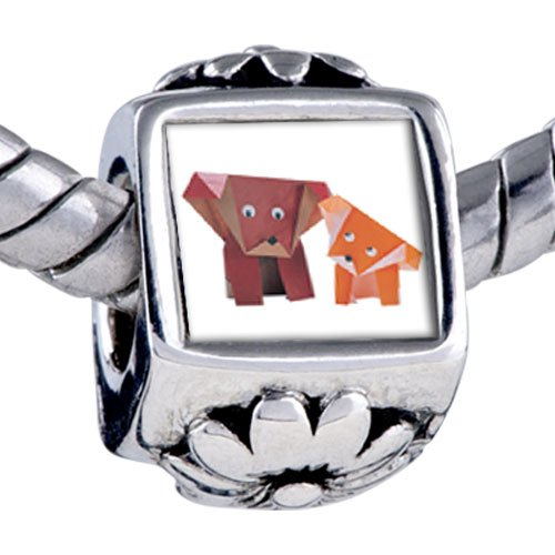 Pugster Bead Paper Dogs Beads Fits Pandora Bracelet