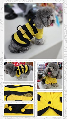 Pawz Road¡¡Wholesale Free Shipping Dog Cute Cartoon Pet Clothes Bee Style Puppy Coat With Hat Winter Wear Coustom For Cat Dog