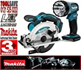 BSS610 BML185 Makita Cordless LXT 18V Li-Ion Circular Saw & Torch
