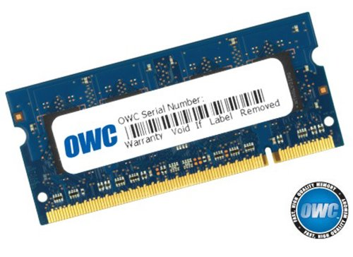OWC 4GB PC2-5300 DDR2 667MHz SODIMM 200 Pin Memory Upgrade Module for MacBook Late 2007/Early 2008, MacBook Pro Mid/Late 2007, Early 2008, and iMac Late 2007 systems with Core 2 Duo Santa Rosa or Penryn processor. Model OWC5300DDR2S4GB