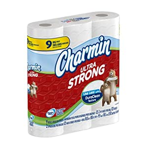 Charmin Ultra Strong Toilet Paper Big Roll 9-Count, 121 sheets (Pack of 4)