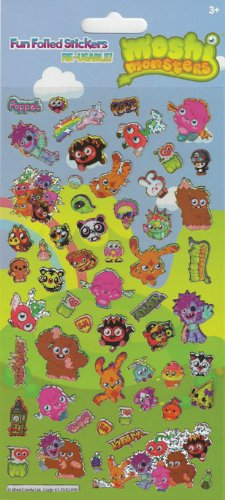 Moshi Monsters Foiled Stickers Large Packet