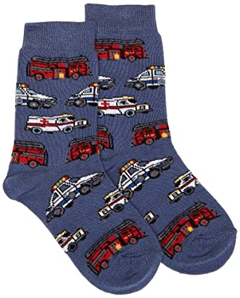 Country Kids Boy's Help is on the Way Calf Socks, 1-3 Years (Manufacturer Size:3-5.5), Blue (Denim)