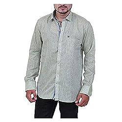 Austrich Men's Casual Shirt (11008_Light Green_40)