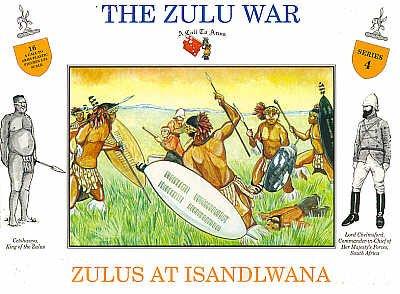 Imagen de La guerra del Zulú - zulúes en Isandlwana plástico Army Men: 16 piezas set de 54mm Figuras - escala 1:32