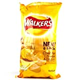 Walkers Cheddar Cheese and Bacon Crisps 6 Pack 150g