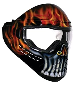 Save Phace Tagged Series Ghost Stalker Tactical Mask with Skull and Flames Graphic