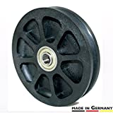 Cable Pulley 3.94 in. / 100 mm - Universal Bearing Pulley, heavy duty, ideal for Gym Equipment, Garage Door Openers, Play Towers, Clothes Lines, etc.